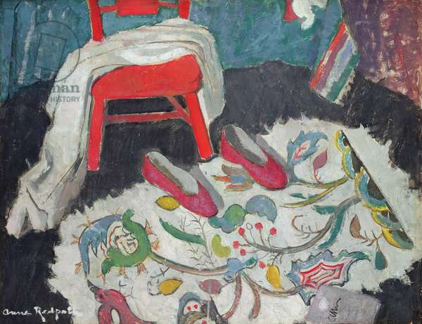 The Indian Rug (Red Slippers): recto, c.1942 (oil on plywood)