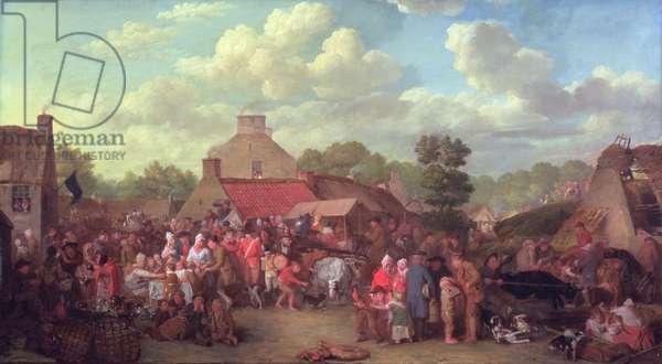 Pitlessie Fair, 1804 (oil on canvas)
