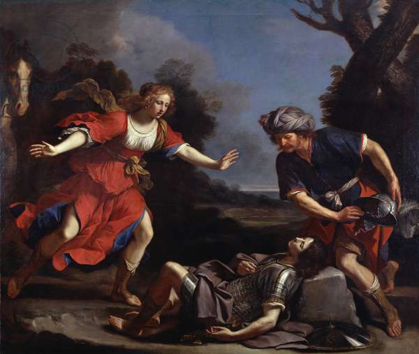 Erminia Finding the Wounded Tancredi (oil on canvas)