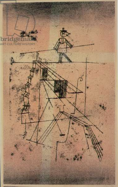 Tightrope Walker, 1923 (no 138) (colour litho)