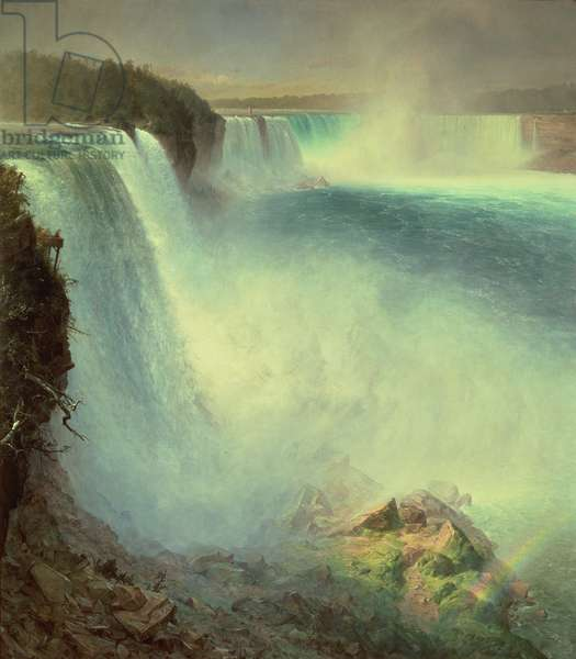 Niagara Falls, from the American Side, 1867 (oil on canvas)