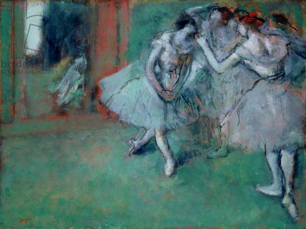 Group of Dancers, 1890s (oil on paper laid on canvas)