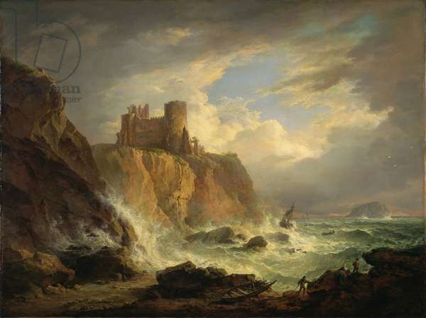 Tantallon Castle with the Bass Rock, c.1816 (oil on canvas)