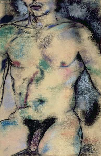 Actor (Richard), 1979 (pastel and charcoal on paper)