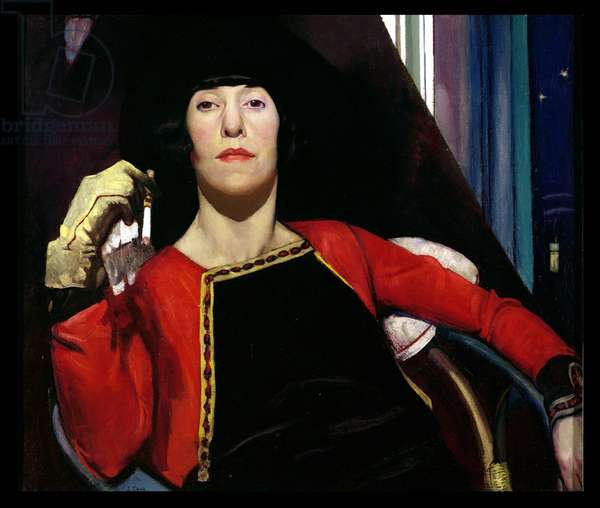The Yellow Glove: portrait of Alice Cowie, the artist's wife, 1928