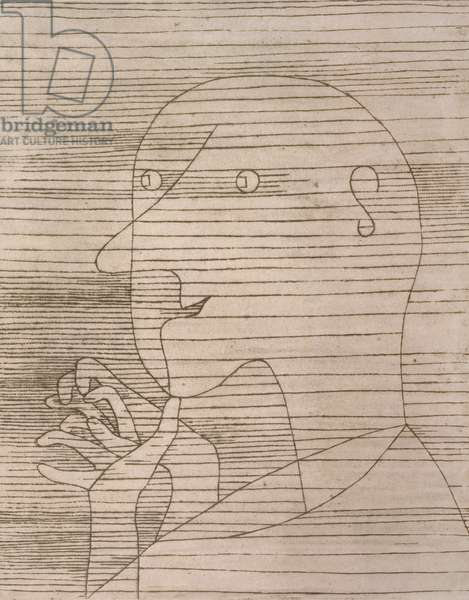 Old Man Counting, 1929 (no 99) (etching)