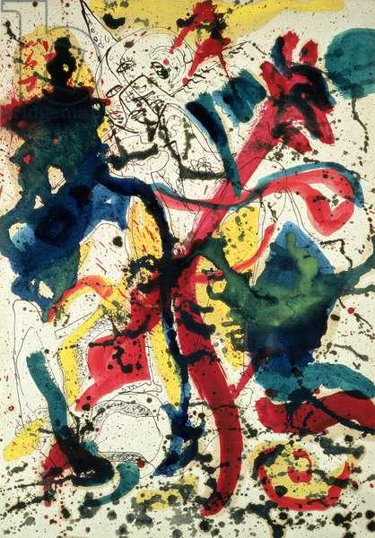 Untitled, c.1942-44 (oil, pen, ink, w/c, paper)