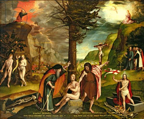 Allegory of the Old and New Testaments, early 1530s (oil on panel)