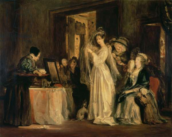 The Bride at her Toilet on the Day of her Wedding, 1838 (oil on canvas)