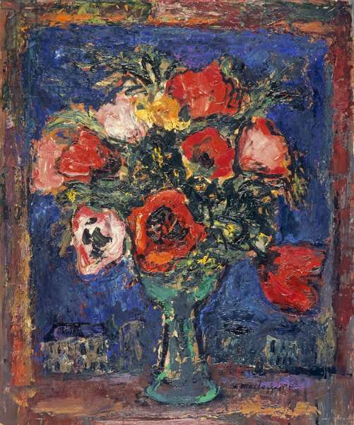 Poppies Against a Night Sky, c.1932 (panel)