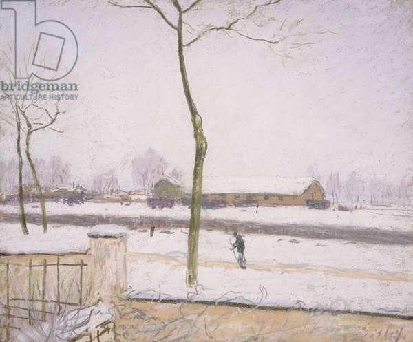 Snow Effect (Effet de Neige) (pastel on paper) c. 1880-1885