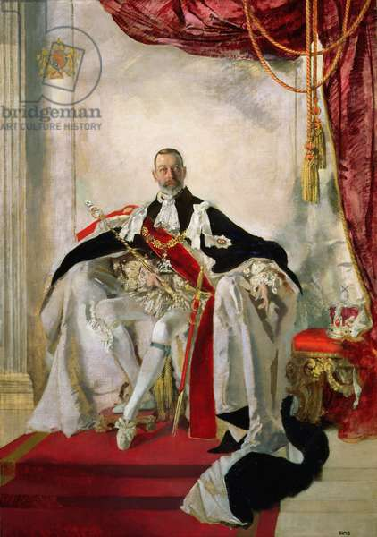 George V (oil on canvas)