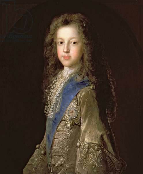 Prince James Francis Edward Stewart (1688-1766) as a boy, 1701 (oil on canvas_