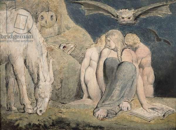 The Night of Enitharmon's Joy, c.1795 (w/c on paper)