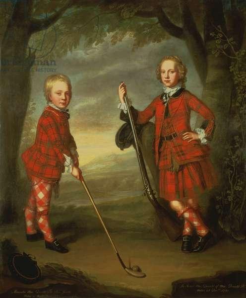 The Macdonald Boys: Sir Alexander Macdonald (c.1745-95) 9th Baronet of Sleat and 1st Baron of Slate, with Sir James Macdonald, 8th Baronet of Sleat (1742-66)