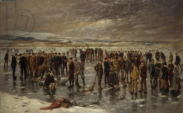 Curling at Carsebreck, 1899