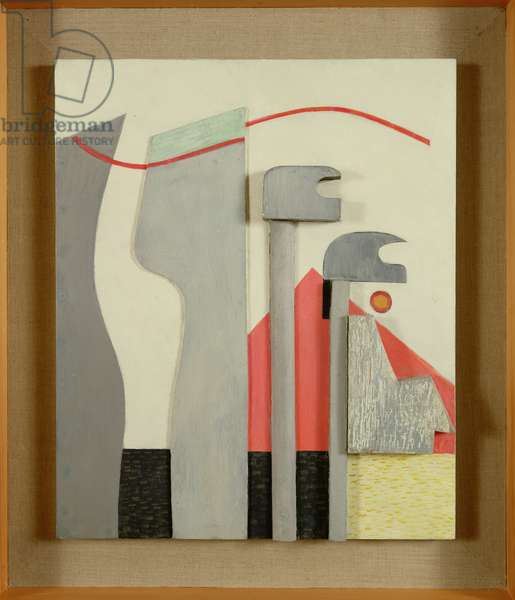 Untitled, c.1923-5 (oil, wood relief, plywood)