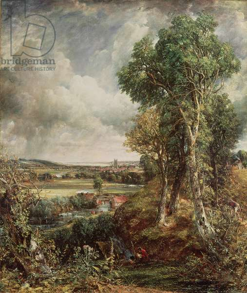 The Vale of Dedham, 1828 (oil on canvas)