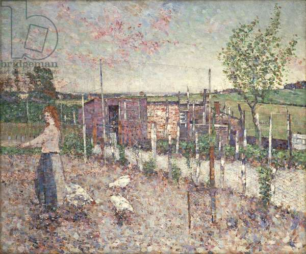 Poultry Yard, Gartcosh, 1906 (oil on canvas)