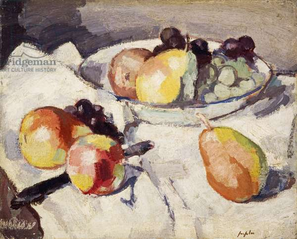 Still Life with Pears and Grapes, c.1930 (oil on canvas)