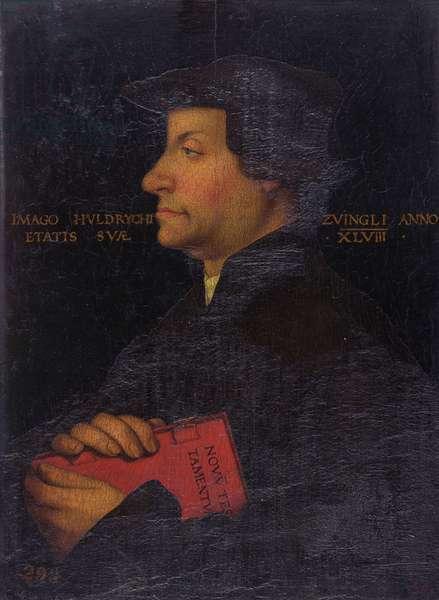 Portrait of Huldrych Zwingli (1484-1531) (panel)