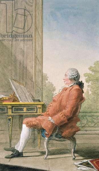 David Hume (1711-76) (pencil, chalk and w/c)