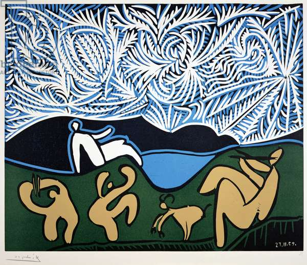 Bacchanal, 1959 (linocut on paper)