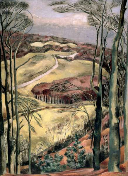 Berkshire Downs, 1922 (oil on canvas)