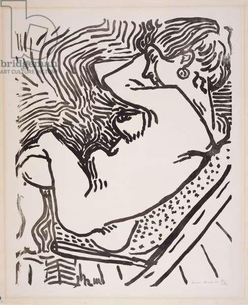 Seated Nude, 1906 (woodcut)