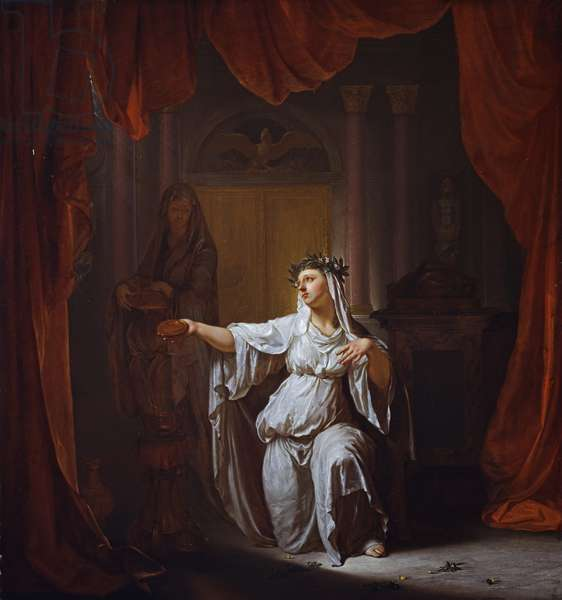 Two Vestal Virgins (panel)