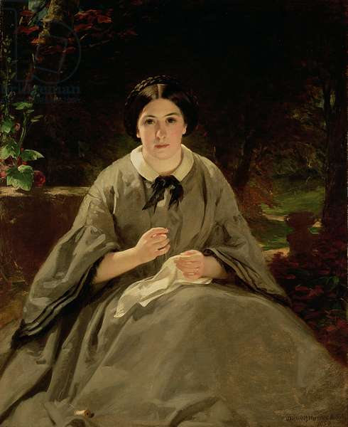 A Lady in Grey, 1859 (oil on canvas)