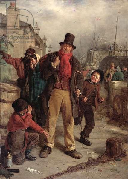 An Irish Emigrant Landing at Liverpool, 1871