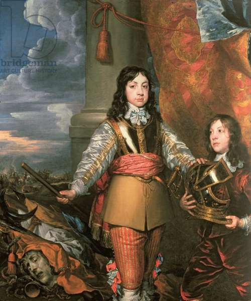 Charles II as Prince of Wales with a page, c.1642 (oil on canvas)