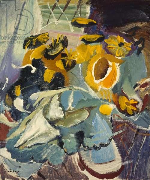 Sunflowers and Blue Jar, c.1947