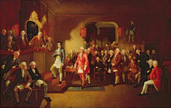 Inauguration of Robert Burns as Poet Laureate of the Lodge Canongate, Kilwinning, 1787
