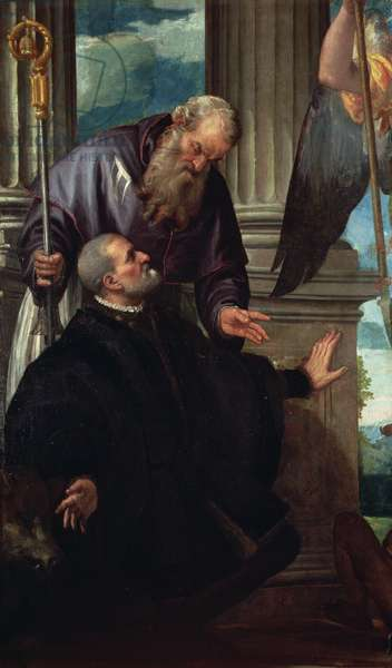 Saint Anthony Abbot as Patron of a Kneeling Donor, c.1570
