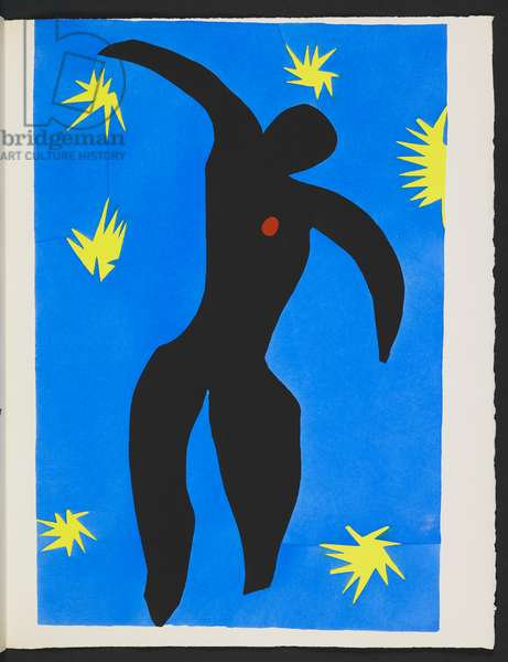 Icarus, plate VIII from 'Jazz', 1947 (pochoir plate)
