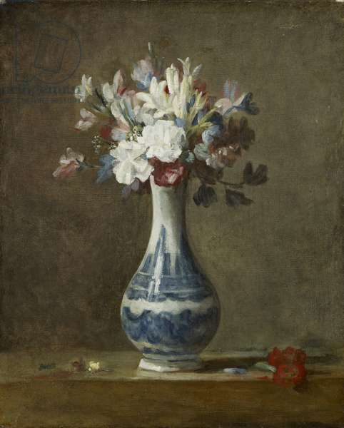 A Vase of Flowers, early 1760s (oil on canvas)