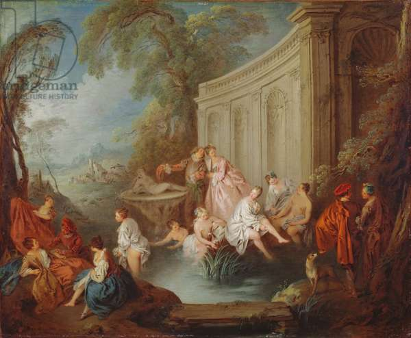 Ladies Bathing, 1721 (oil on canvas)