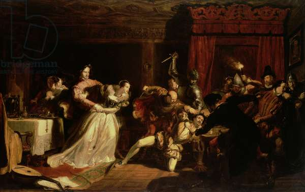 The Murder of David Rizzio, 1833 (oil on panel)