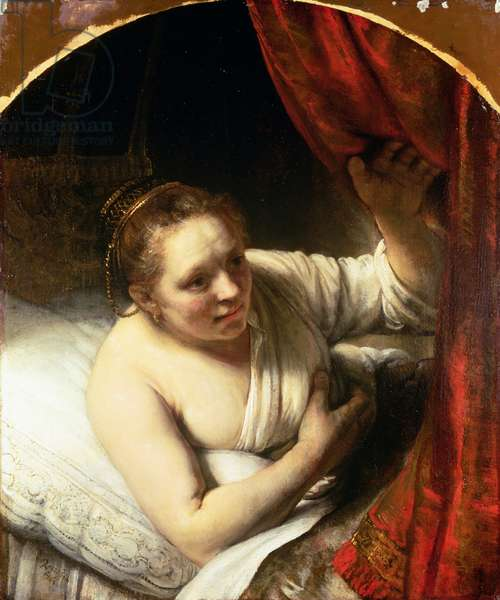 Woman in bed, c.1645-46 (oil on canvas)