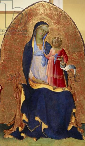 The Virgin and Child Enthroned, 1418-20 (tempera on panel)