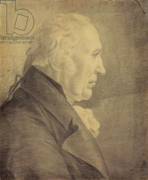 Portrait of James Watt (1736-1819), 1809 (chalk on paper)