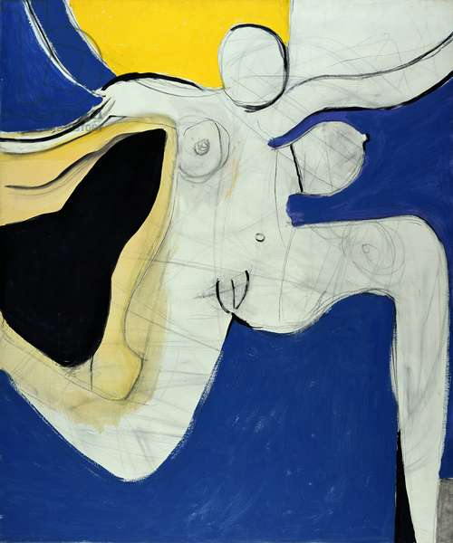 Dancing Woman, 1963 (oil and chalk on canvas)