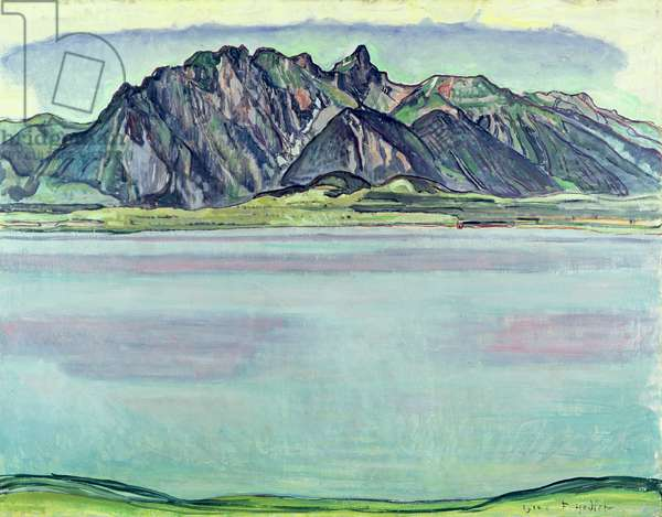 Lake Thun and the Stockhorn Mountains, 1910