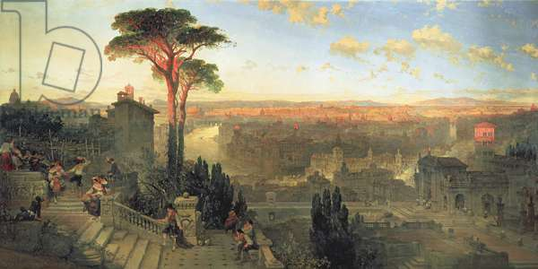 Rome, Sunset from the Convent of San Onofrio on Mount Janiculum, 1856 (oil on canvas)