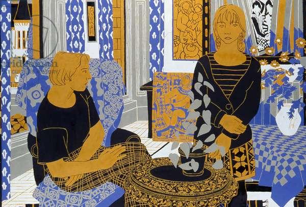 The Studio, 1988 (oil on board)