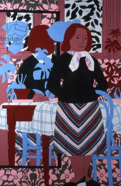 Reflections in a Mirror, 1978 (oil on board)