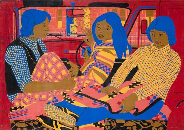 The Red Van, 1977 (oil on board)