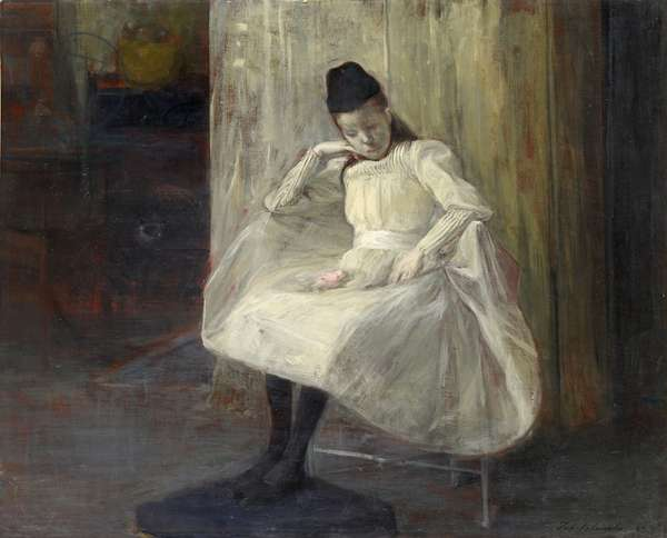 The pink rose, 1890 (oil on canvas)